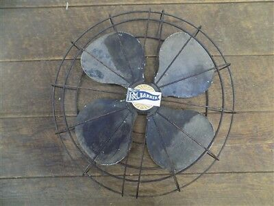1947 Robbins Myers Electric Fan Parts R&M Banner 16 Inch Metal Blades Vintage