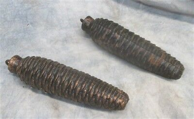 2 Large Cuckoo Clock Pinecone Weights Vintage Replacement Parts Repair