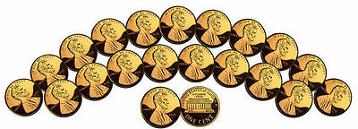 1 Uncirculated U.S. Coins GENUINE 24K GOLD PLATED Lincoln Cent