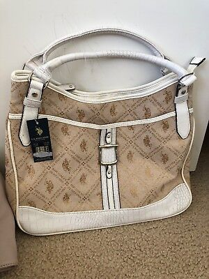 US POLO ASSN Hand Bag  Color Chino white