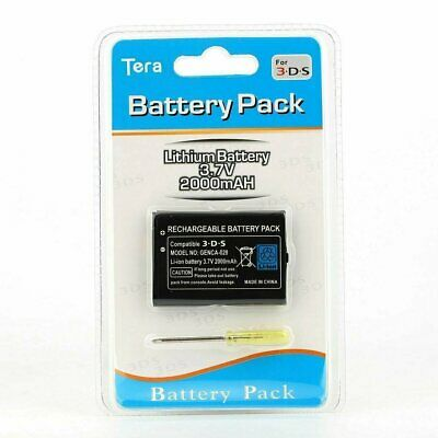 Rechargeable Battery Pack for Nintendo 3DS 2DS Wii U Pro Controller + Tool NEW