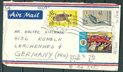 Burma 1971 Cover, Rangoon To Germany, Nice Stamps -Cag 031018