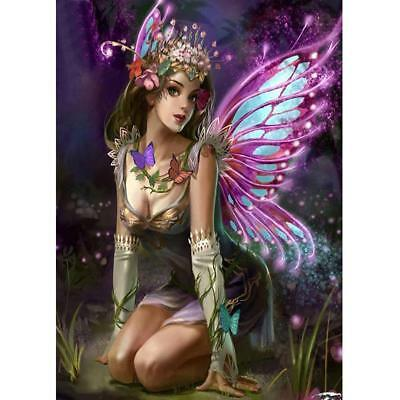 Butterfly Fairy 5D DIY Full Drill Diamond Painting Cross Stitch Embroidery Craft