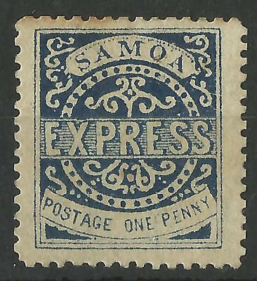 Samoa Qv Express Stamp One Penny State 4 Reprint / Remainder ?? Mint
