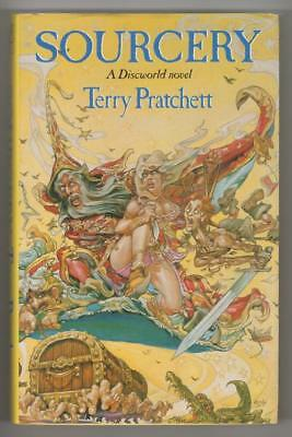 Sourcery by Terry Pratchett (First Edition) Publisher's File Copy