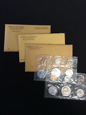 1960-1964 United States Mint 90% Silver Proof Sets