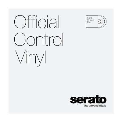 "10"" Serato Standard Colors (Pair) CLEAR Control Vinyl"
