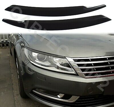 Fits VOLKSWAGEN Passat CC 2013+ Headlights Eyebrows, ABS PLASTIC