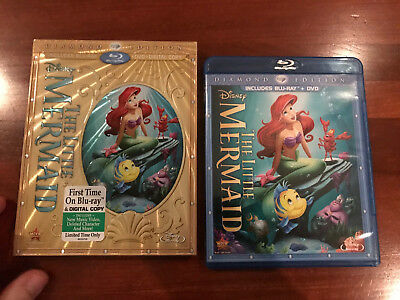 The Little Mermaid (Diamond Edition Blu-ray only) with rare oop DISNEY SLIPCOVER