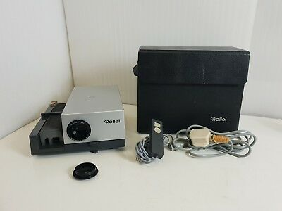 Rollei P35A 35 mm Slide Projector Remote Control & Carry Case - Working
