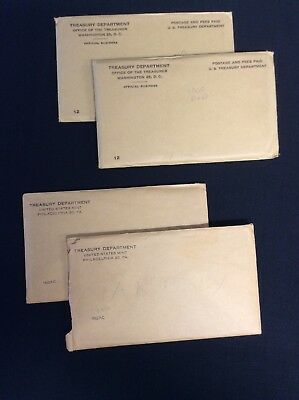 2) 1960 & 2) 1962 United States Mint 90% Silver Proof Sets In Mint Envelopes