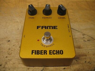 Fame Fiber Echo // Analog Delay Pedal // True Bypass // Youtube Video