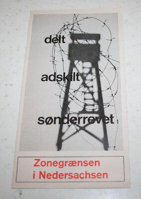 Vintage Pamphlet About Divided Germany in Norwegian/German