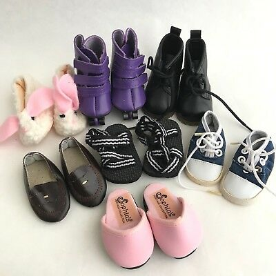 """MAGIC ATTIC 18"""" Doll Shoe Lot Penny Loafers Boots Skates Sandals Slippers Slides"""