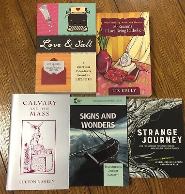 Lot of 5 Catholic Spiritual Reading Books - Used
