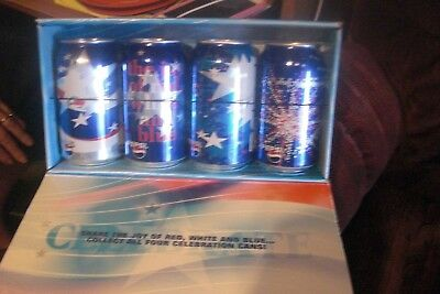 Pepsi-Cola Pepsi  Cans Made To Share The Joy Of Red, White And Blue.air Filled C
