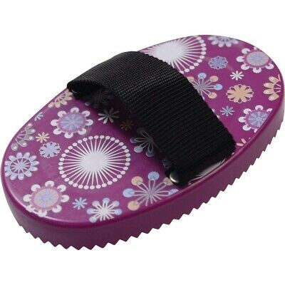 Roma Pattern Curry Comb for Mud Removal Horse Grooming Colorful Prints