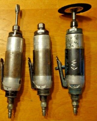 Aircraft air tool lot. 3 Rockwell  / Cooper die grinders. 20,000 RPM. RUN GREAT