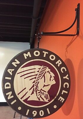 Indian Motorcycle Double Sided Sign