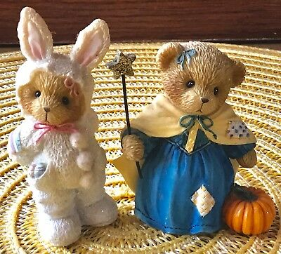 CHERISHED TEDDIES Halloween and Easter Hillman Family Enesco Group 2005