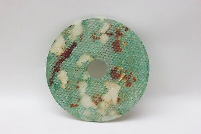 Chinese carved hand stone BI disk great color, China