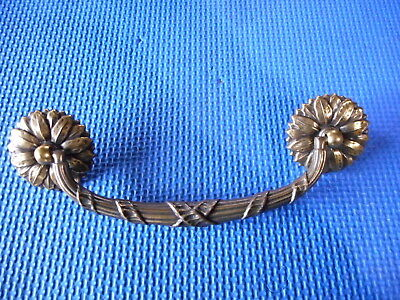 "Vintage Solid Brass Drawer Furniture Pull NOS Keeler Brass Co. 5.75"" C to C Nice"
