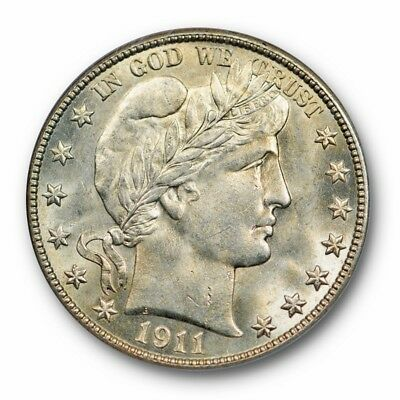 1911 50C Barber Half Dollar PCGS MS 65 Uncirculated Lustrous GEM OGH Old Holder
