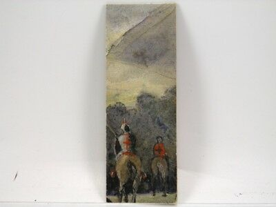Early 20th century English School watercolour painting knights on horseback