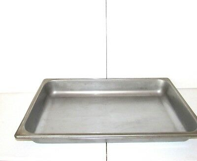 """Full Size 2 1/2"""" Deep NSF Stainless Steel Silver Steam Table / Comercial Pan"""