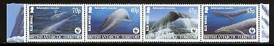 British Antarctic Territory Scott #329a MNH STRIP Blue Whale FAUNA WWF CV$42+