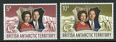 British Antarctic Territory Scott #43-44 MNH QE II and Prince Philip 25th CV$7+