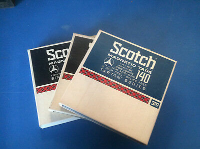 Lot Of 3 Scotch 5 Inch Reel To Reel Tapes Great condition tested