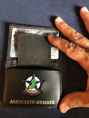 NPD-NEWARK NJ associate MEMBER LEATHER WALLET W/ MINI BADGE small with FOP CARD