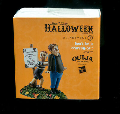 Dept. 56 Halloween Don't Be A Scardy-Cat! Nib 2016-Current Hasbro Licensed