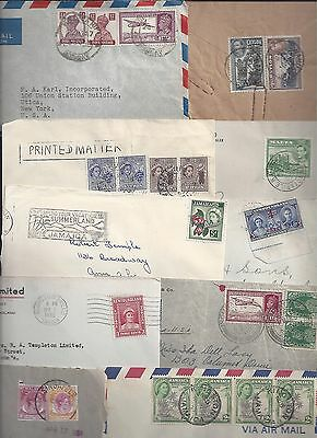 UK GB BRITISH COMMONWEALTH 1930's 60's COLLECTION OF 18 COMMERCIAL COVER CEYLON
