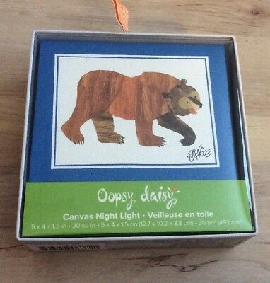 NEW Oopsy Daisy Eric Carle's Bear (Brown Bear What Do You See) Night Light