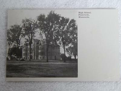 1907 Photo Postcard High School Plainview MN Minnesota Eyota Postmark