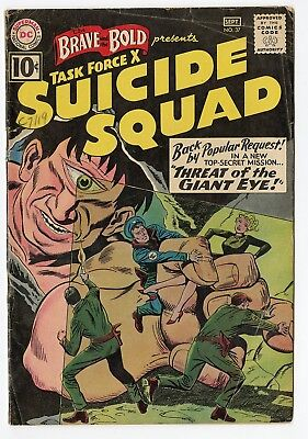 Brave & Bold #37 VG 4.0 ow/white pages  Suicide Squad  DC  1961  No Reserve