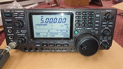 Icom Ic-746Pro Hf/vhf All Mode Transceiver With  Manual, Pwr Supply