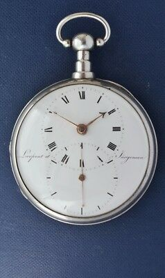 LARGE SILVER POCKET WATCH by LARPENT & JURGENSEN, C.1815