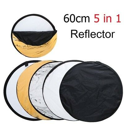 Portable Collapsible Round Reflector Photo Studio Multi Disc Flash Light 5 in 1