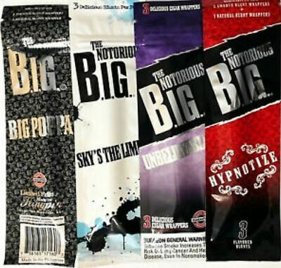 Notorious BIG Cigar Wraps Rolling Paper Cigarette Tobacco Flavours 420 Mull Buds