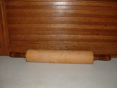 """Vintage Large Rustic 24"""" Long Wooden Rolling Pin - Heavy Smooth Roller"""