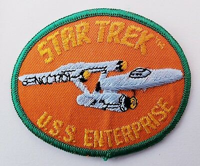 Vintage 70s Star Trek USS Enterprise Patch Unsewn