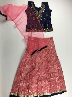 $35 Compare $75 Girls lehenga choli kids Indian Party Dress Size 32 age 7-9 YR