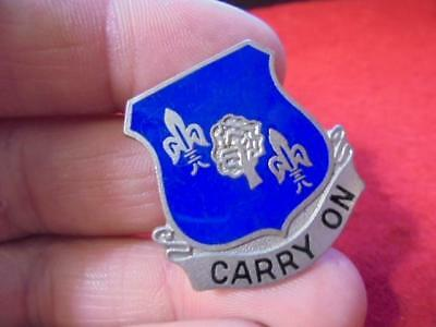Sterling WWII 359th Infantry Regiment DUI DI Crest pin