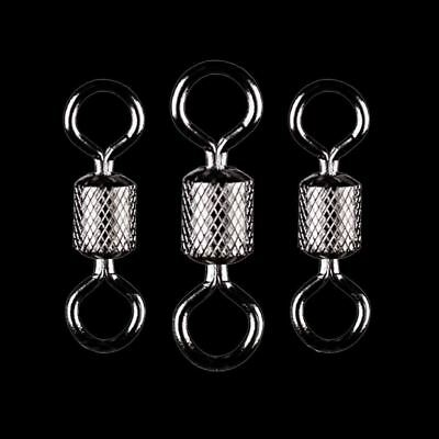 50PCS/Lot Fishing Swivels Ball Bearing Swivel With Safety Snap Solid Rings Rolli