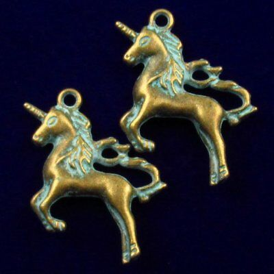 2Pcs 38x25x5mm Carved Brass Bronze Horse Pendant Bead Y46638