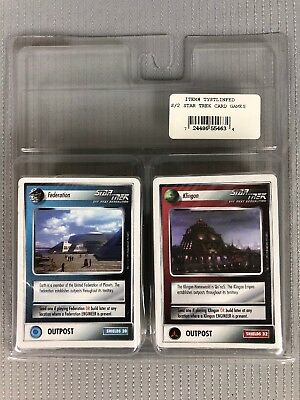 NEW Star Trek Next Generation Card Game Booster Packs Federation And Klingon
