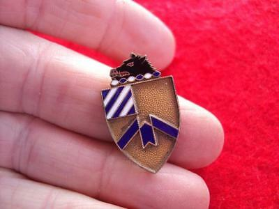 RARE Jeweler made sterling  30th Infantry Regiment DUI DI Crest pin